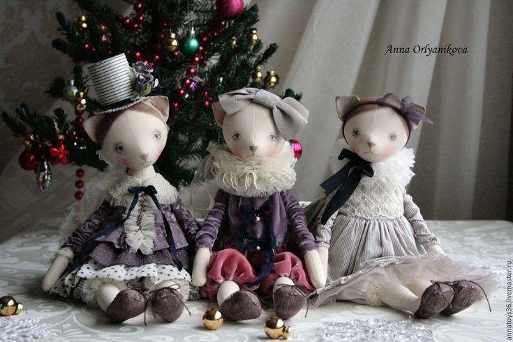 Купить Мона - авторская ручная работа, авторская кукла, кошка, кошка в платье, подарок