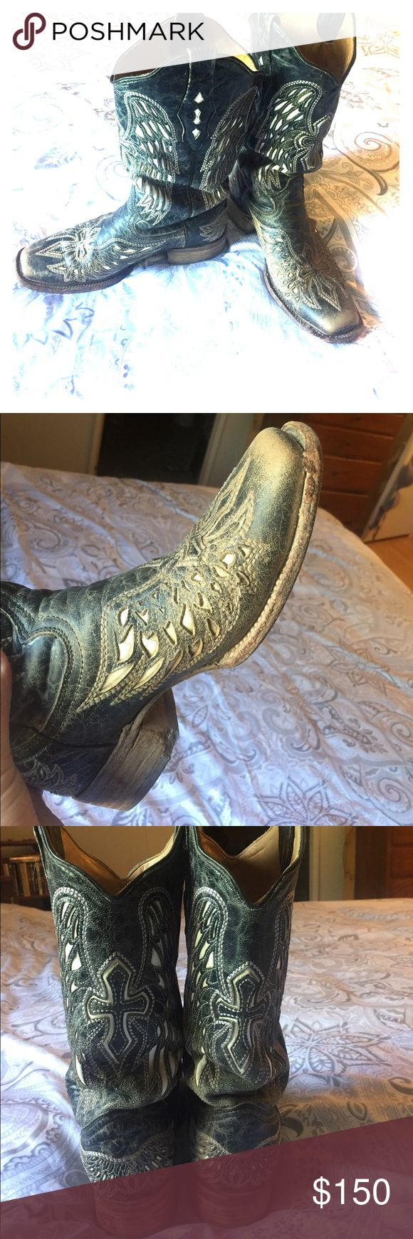Corral vintage boots Has some wear shown on picture but can't hardly see it when worn, very cute and very comfortable! Corral Shoes Heeled Boots