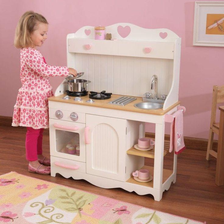 Cocinita estilo pradera de juguete de la marca Kidkraft para juegos de niños y niñas. Perfecta para decorar habitaciones de niños. Gran calidad y detalles.