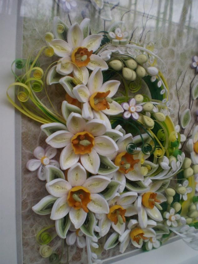 выставка, цветы, перо, работа с бумагой