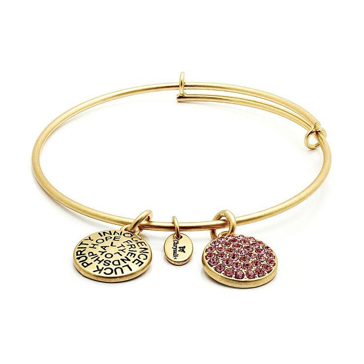 Chrysalis Jewelry Sapphire Swarovski Crystal Adjustable Bangle 14k Gold Plate