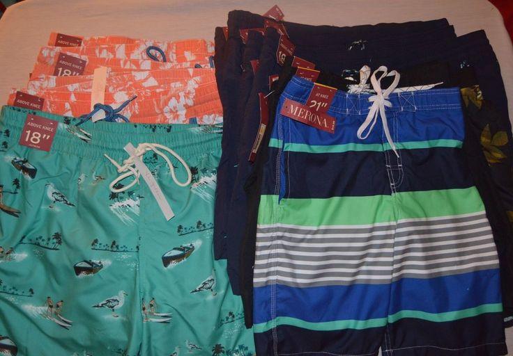Merona Mens Shorts Swim Trunks NEW NWT / NWOT Medium, Large, XL, XXL, Small  #Merona #BoardShorts