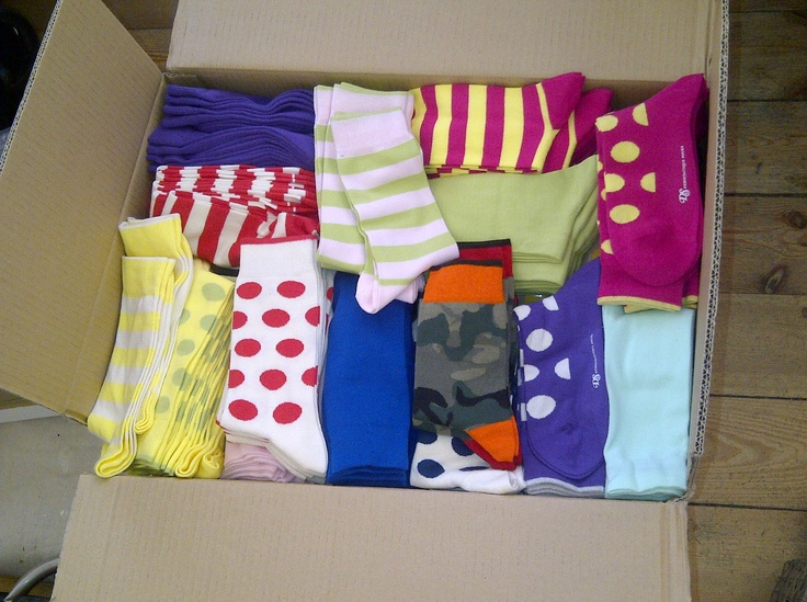 First delivery of Democratique Socks has arrived!