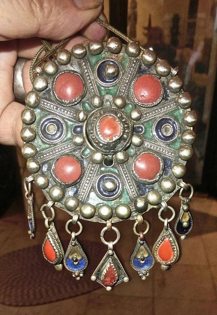 Fibule Ronde Kabyle Berbere Beni Yenni Maroc Maghreb | eBay