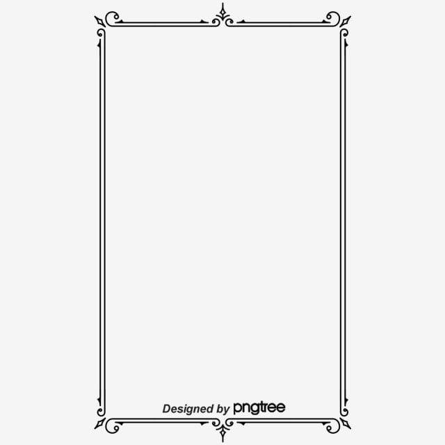 Simple Retro Black Line Square Border Border Clipart Rectangle Design Png Transparent Clipart Image And Psd File For Free Download Logo Design Video Clip Art Vintage Clipart Design