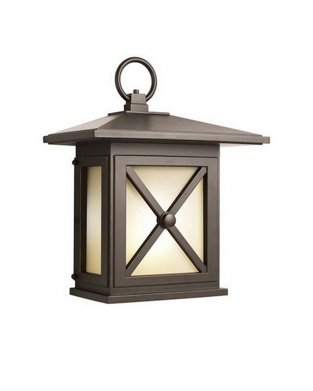 Aluche by kichler lighting 31191 molina collection one light fluorescent energy saving exterior outdoor wall mount in old bronze finish