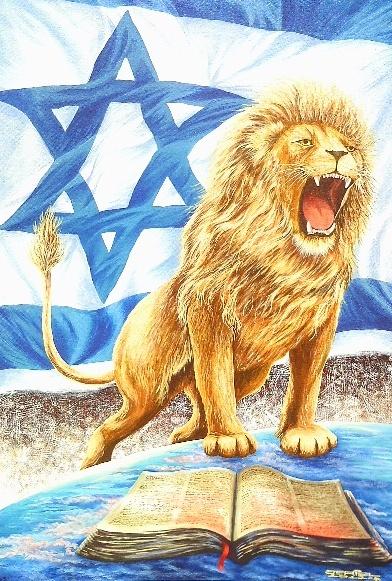 Leão de Judá, (2012) Acrílico sobre Tela de Jeriel. Dimensões: 100 x 70 cm. Coleção Particular - AP.