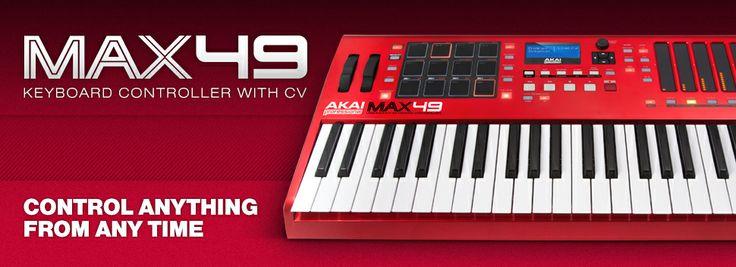 MAX49 USB/MIDI/CV Keyboard Controller. Mengontrol Apa Saja dan Kapan Saja.   MAX49 dari Akai Professional meletakkan kontrol MIDI dan CV yang revolusioner di ujung jari anda. Dengan tata letak yang intuitif, MAX49 menawarkan kemampuan kreatif instan, termasuk; Pro Tools Express, Ableton Live Lite, AkaiConnect, dan software Ignite. Dengan 49 tuts semi-weighted, 12 MPC pad sungguhan, LED fader sentuh yang inovatif dan 32-note step sequencer built-in.