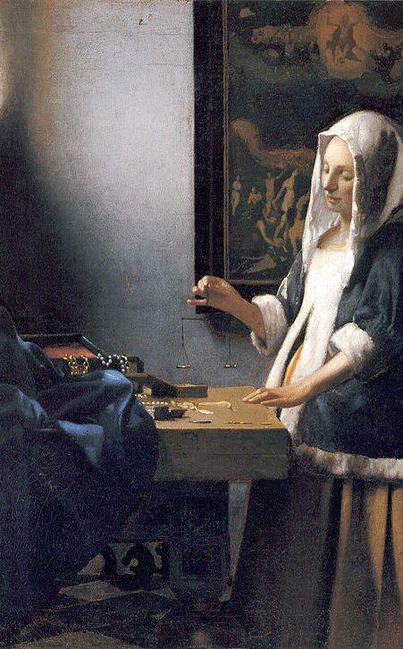 Johannes Vermeer (1632-1675) La femme à la balance 1662 National Gallery of art Washington DC
