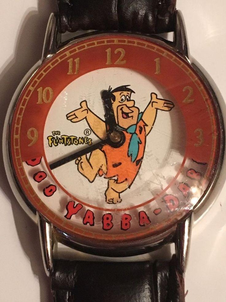 Vntg Fred Flinstone Waltham Hanna Barbera Yabba Dabba Do Watch New Band Battery  | eBay