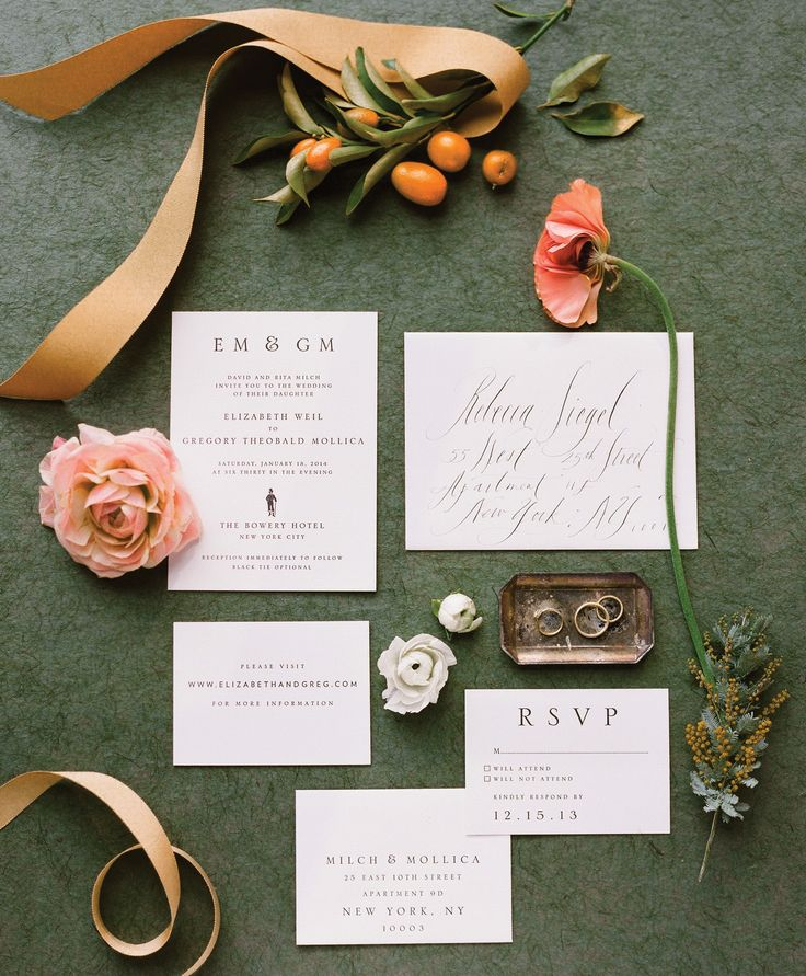 do you invite officiant to wedding reception%0A Top    Wedding Invitation Etiquette Q u    As   Photo by  Heather Waraksa    TheKnot com