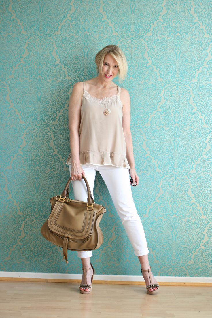 A fashion blog for women over 40 and mature women http://glamupyourlifestyle.blogspot.de/  Top + Shoes: Dorothee Schumacher Pants: NYDJ Bag: Chloé Marcie
