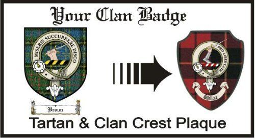 Broun Clan Macmillan Clan Badge Plaque . $29.99