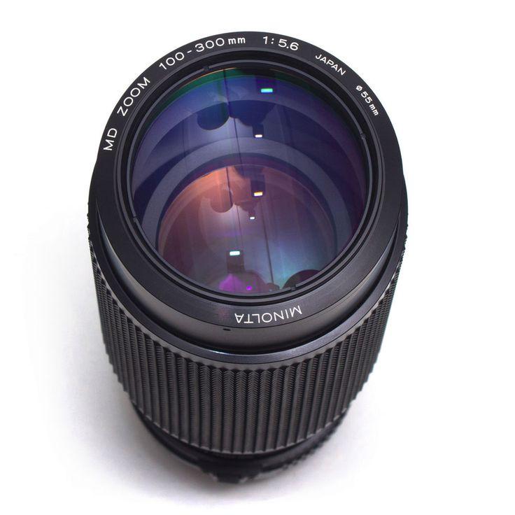 Minolta MD 100-300mm F5.6 Long Telephoto Zoom Lens Macro Manual Focus Japan VGC
