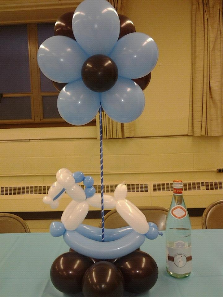 boy baby shower table decor use pink it can be for a girl too