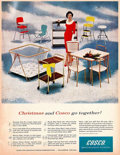 """Christmas and Cosco Go Together!""/Who DiDn'T have the red or yellow Cosco stepstool in the kitchen?"