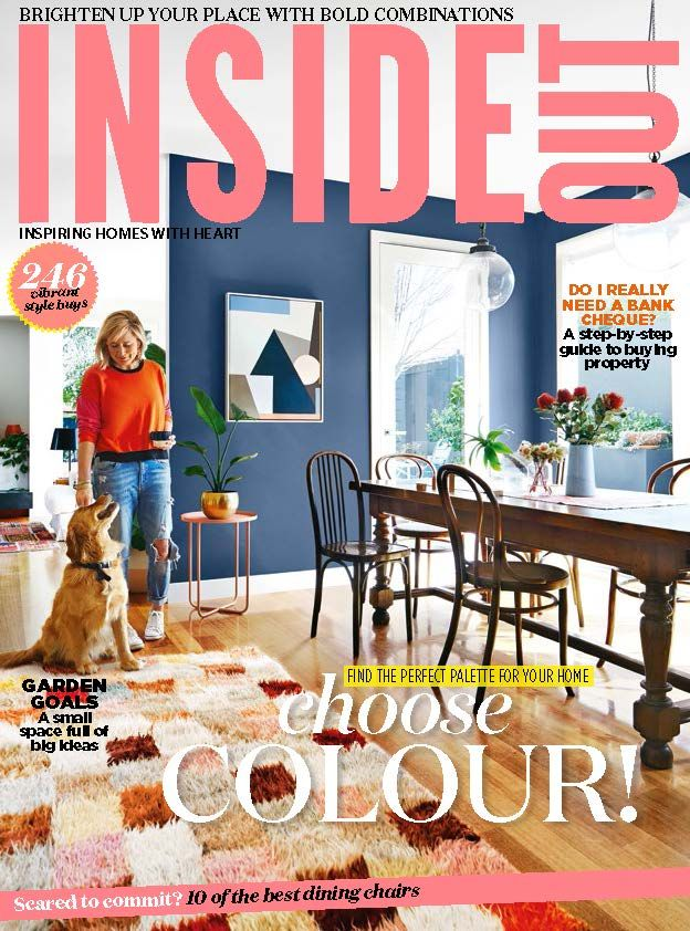 The cover of the April 2017 issue of Inside Out magazine. Photography by Armelle Habib. Styling by Julia Green.  Available from newsagents, Zinio, https://au.zinio.com/magazine/Inside-Out-/pr-500646627/cat-cat1680012#/, Google Play, https://play.google.com/store/newsstand/details/Inside_Out?id=CAowu8qZAQ, Apple's Newsstand,https://play.google.com/store/newsstand/details/Inside_Out?id=CAowu8qZAQ, and Nook.