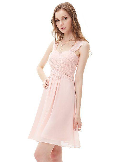 Ever Pretty Robe de Demoiselle d'honneur en Coeur V-col au genou 03539: Amazon.fr: Vêtements et accessoires