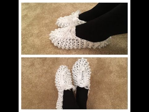 Part 1 - Crochet Slippers for Men or Women - Adult Size - Triangle Star Stitch Puffed - YouTube