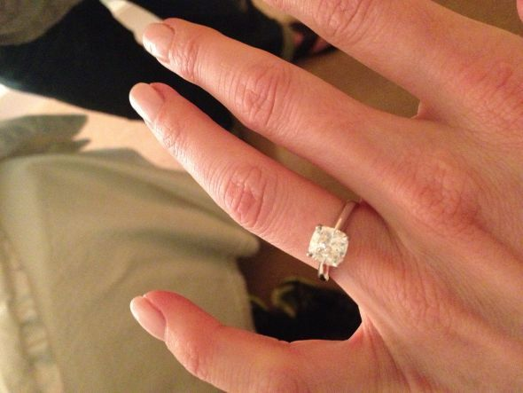 2.01 carat cushion solitaire