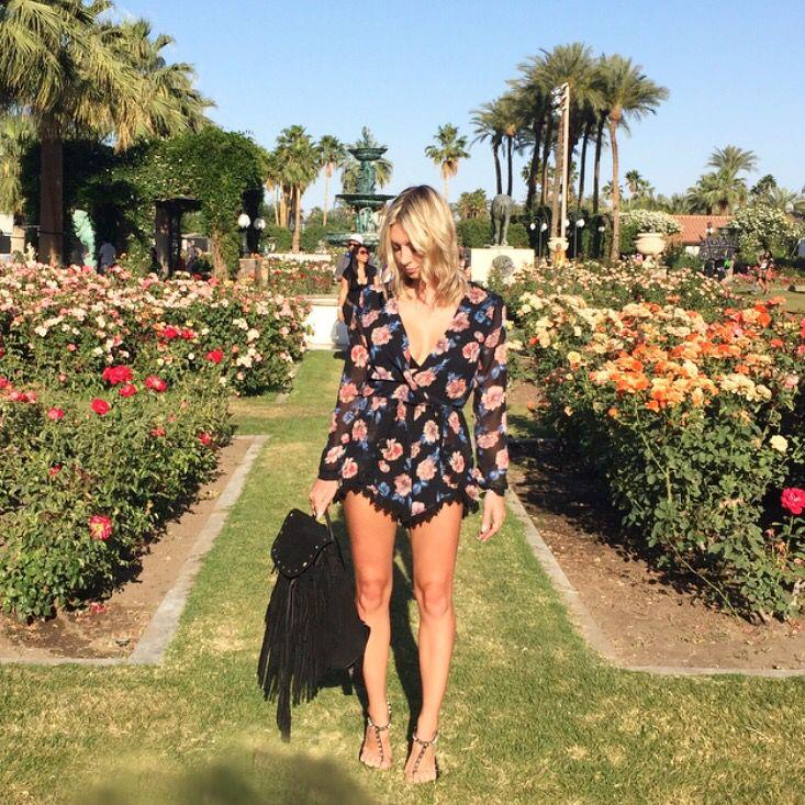 what I wore to coachella#fashion #style #thebasicblond #ootd #ootn #overthekneeboots #outfit #fashionblogger #blog #styleblog #lifestyleblog #beautyblog #lbd #yeezus #kanye #kendall #kylie #gigi #coachella #romper #backpack #balenciaga #sandals #blonde #ootd #ootn #sandiego #palmtrees