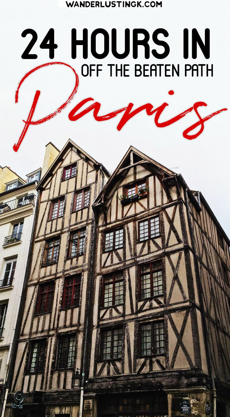 Looking for off the beaten path Paris on a budget? An insider's guide to 24 hours in Paris with different things to do in Paris. #Paris #Travel #France