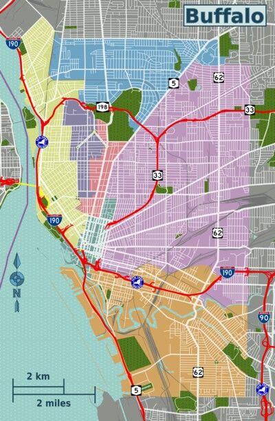 Buffalo District Map.
