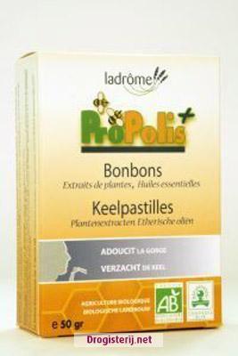 La Drome Propolis Keelpastilles Bio 50g, nu voor - Drogisterij.net