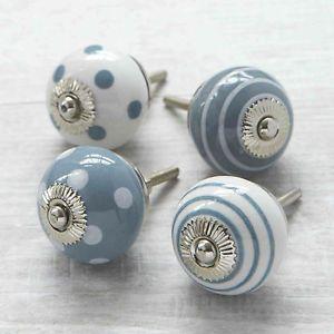 Gris-topos-de-rayas-ceramica-armario-pomo-puerta-manija-del-cajon-tirador