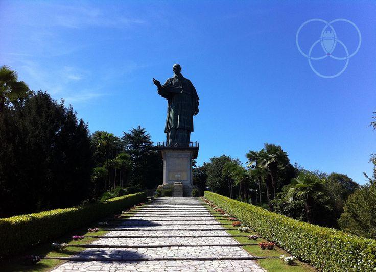 Il #SanCarlone di #Arona ispirazione della Statua della Libertà