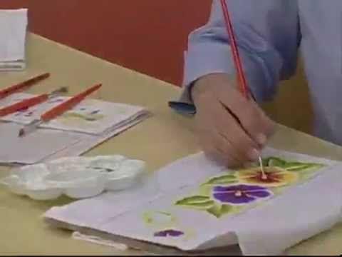 ARTE BRASIL - DENISE EMERY - PINTURA AMOR PERFEITO EM TECIDO (09/09/2011)