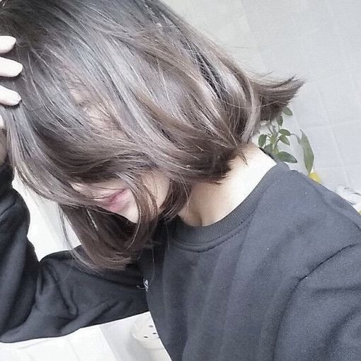 Dark grey brown hair. This is it. This is the colour!