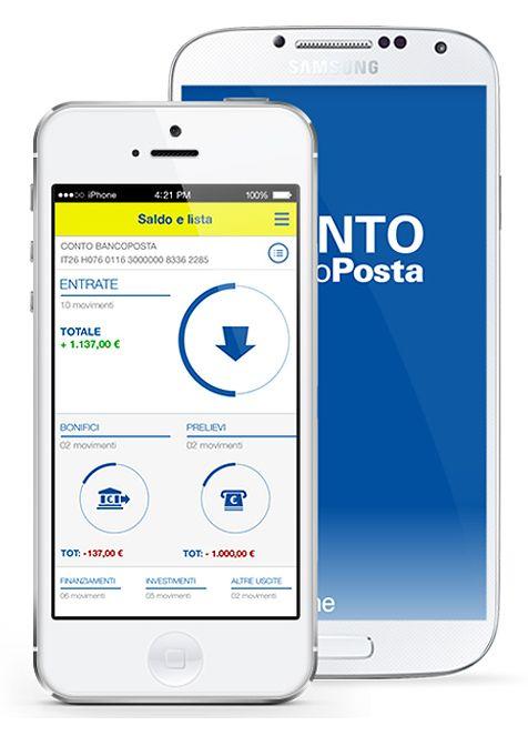 Le app ufficiali di Poste Italiane.