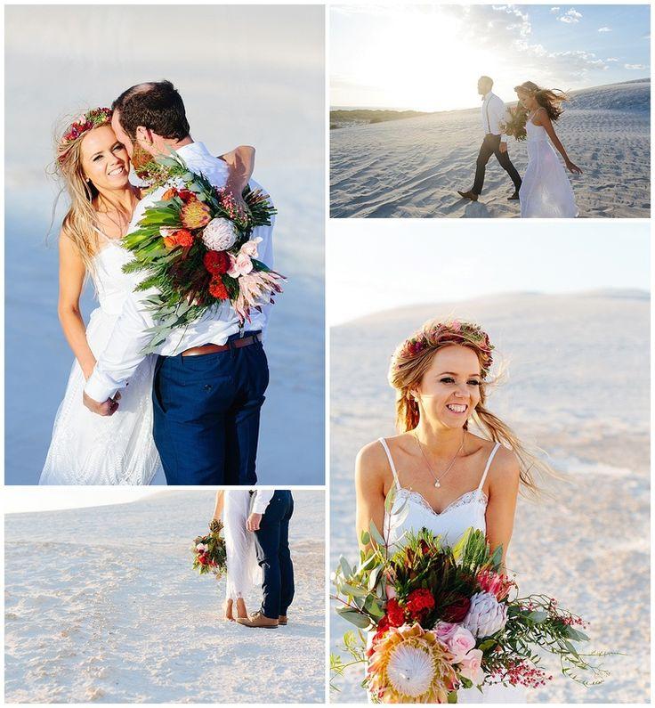 Australian native wedding flowers make for a stunning wedding photo