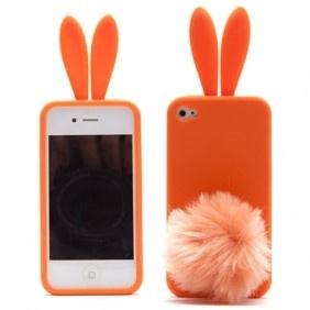 A orange bunny iphone case
