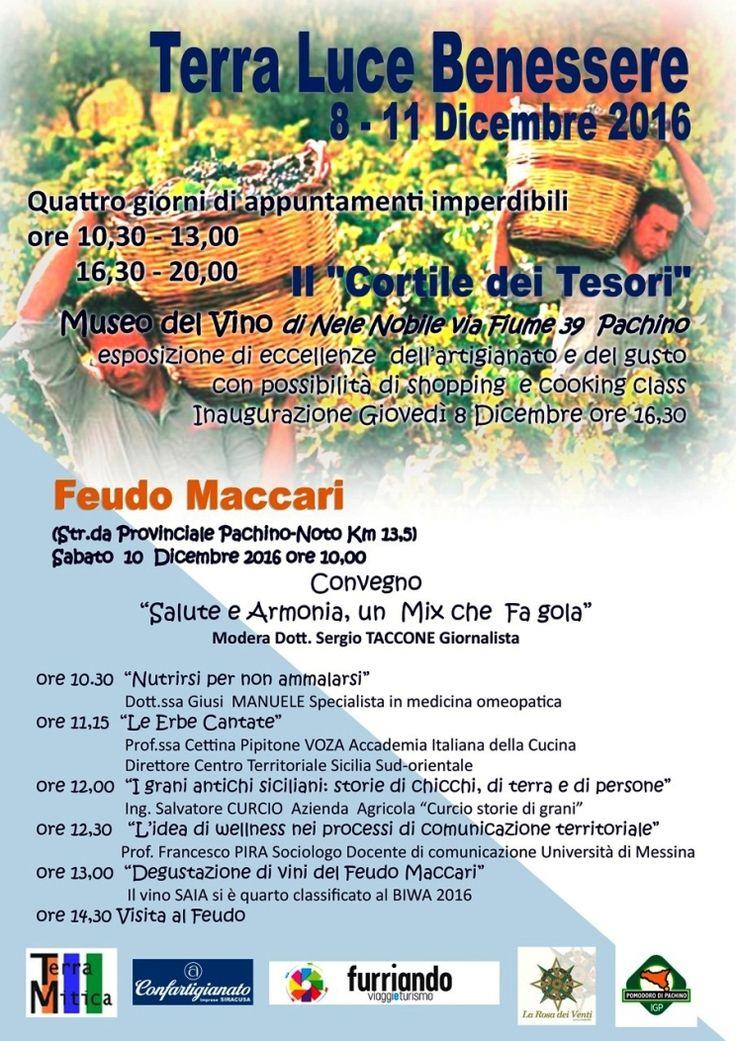 """""""Salute e Armonia"""" sabato 10 dicembre un convegno a Pachino"""