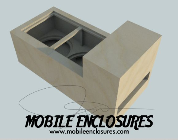 "Dual 15"" Subwoofer Box 4th Order Blowthrough"