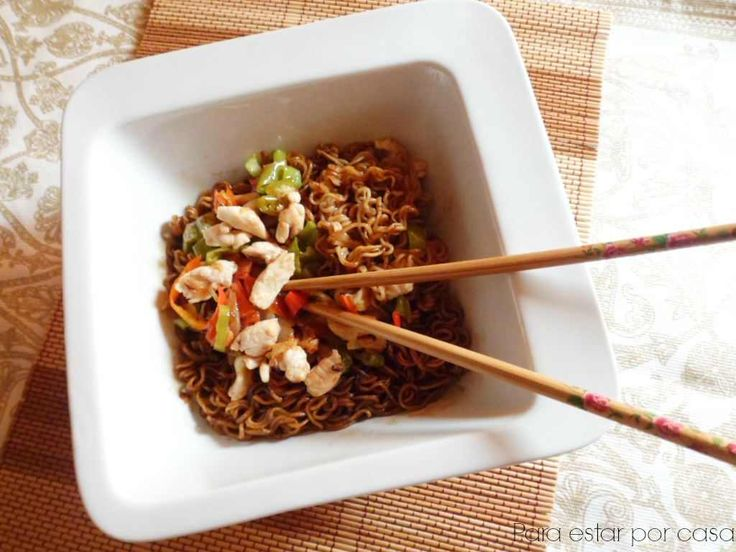 Receta para hacer Fideos Soba con Pollo y Verduras  Nueva Receta del Blog Para estar por Casa Los fideos soba nos transportan hasta Japón con una rec