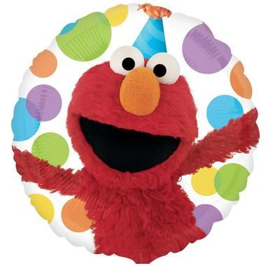 """Happy birthday from Elmo! This 18"""""""" Mylar balloon is sure to make your party…"""