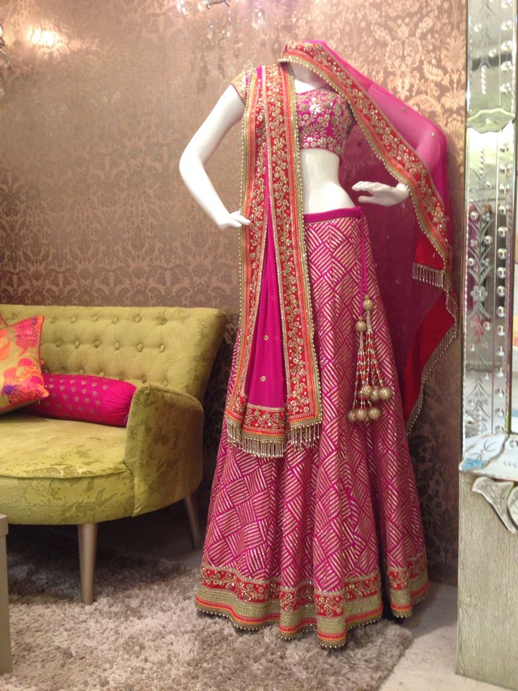 Unconventional Gota embroidery lehenga by VARIJA Design Studio