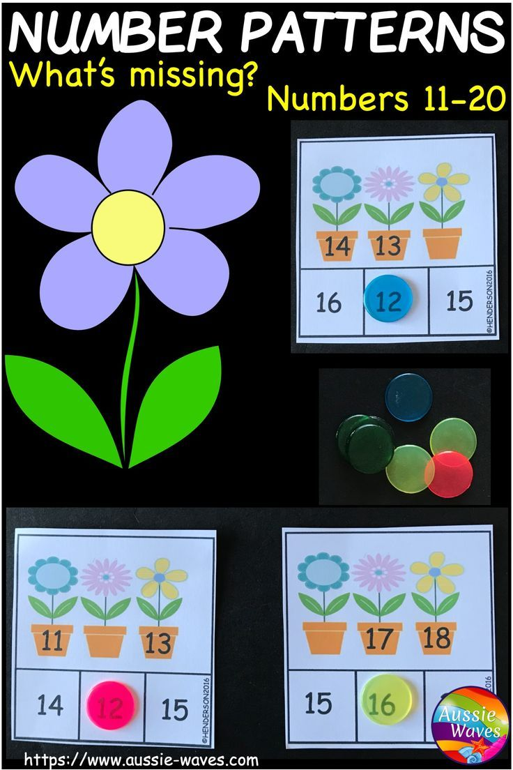 These Activities Are Suitable For Kinder And Year 1 Maths Centres Use Counting Skills To F Math Center Activities Pattern Activities Number Pattern Activities [ 1104 x 736 Pixel ]