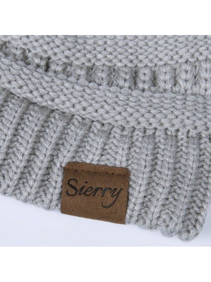 Soft Stretch Cable Knit Beanie- Warm Solid Ribbed Beanie Hats - Unisex -  Light Gray - CE1890NCQDE in 2018  a7a031564928