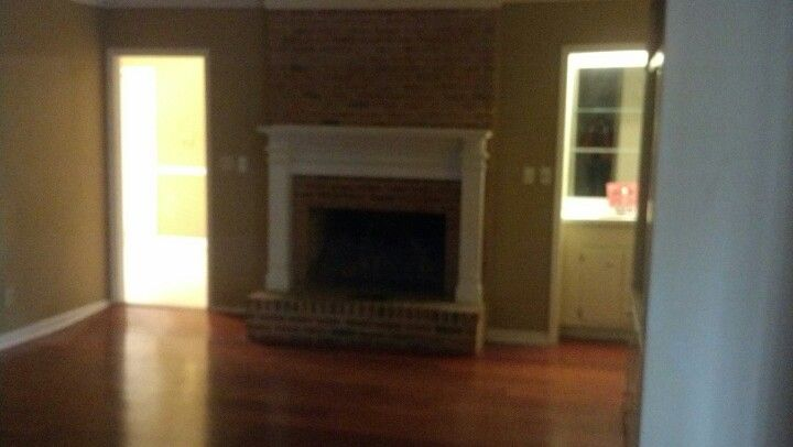 Another pic of fireplace/ bar/ white builtin.