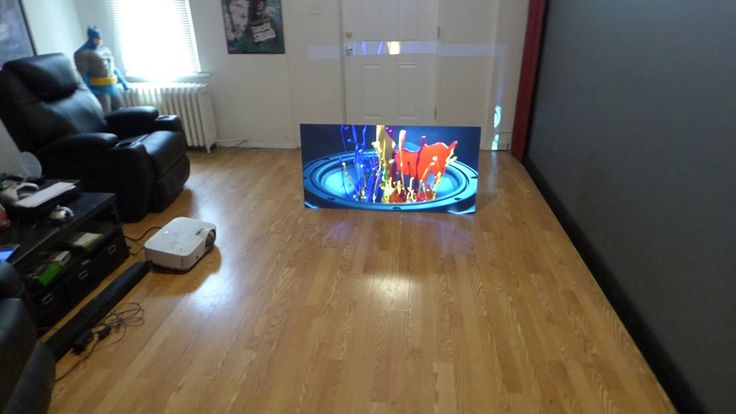 THE FIRST BLACK PROJECTION SCREEN THAT LIKE A OLED TV WITH OUT THE INSAN...