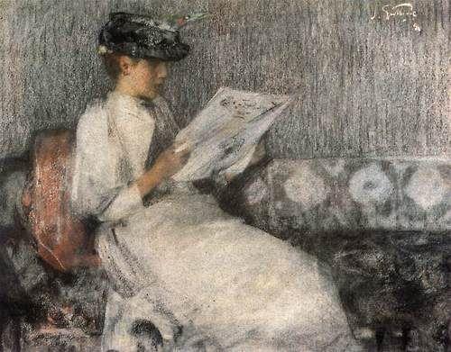 GUTHRIE, James The Morning Paper 1890 Pastel on paper, 52 x 62 cm Fine Art Society, London Tumblr