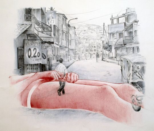 Jaume Montserrat - Autostop 2: Lima – Bolígrafo sobre papel – 65 x 50 cm. – 2012