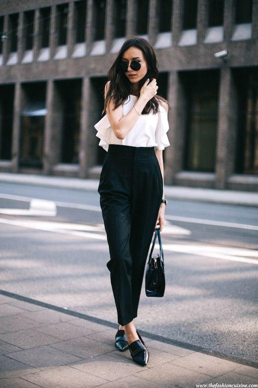 Blogger Style: A Masculine-Meets-Feminine Black and White Look | Le Fashion | Bloglovin'