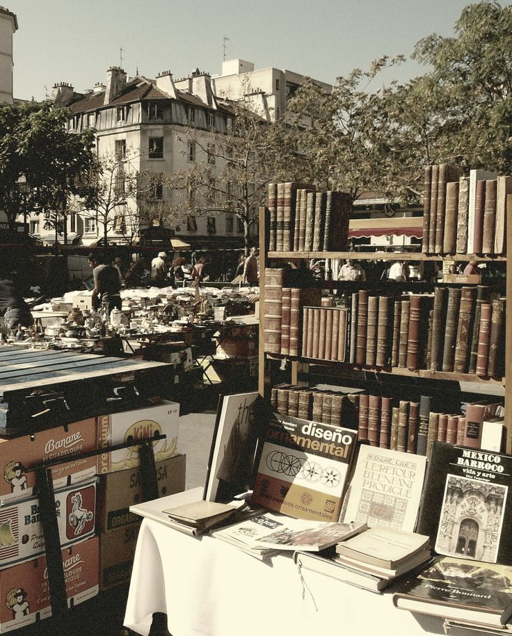 One of my favorite things to do in Paris - browsing through old books sold by street vendors. So fun!