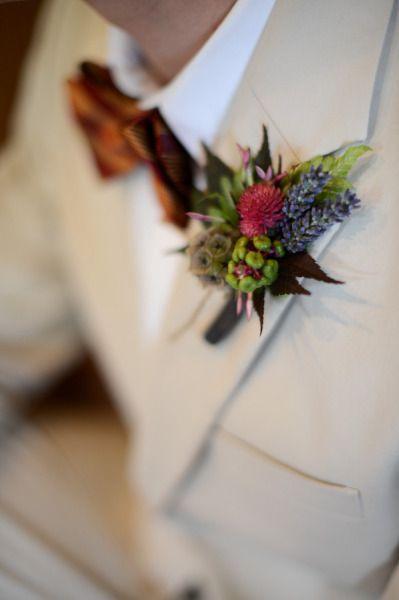 Bouquets mariée Boutonnières Rouge