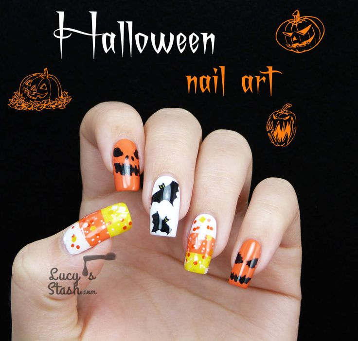 Halloween Mix & Match Nail Art! - Lucys Stash